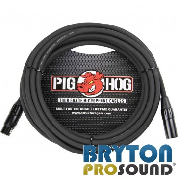 Strukture Pig Hog 20 Foot XLR-F to XLR-M Microphone Cable PHM20