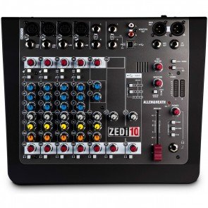 Allen & Heath ZEDi-10 Compact 10 Channel Mixer + 4x4 USB Interface