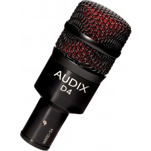 Audix D4 Hypercardioid Low-frequency Microphone for Kick Drum