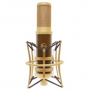 Blue Woodpecker Active Ribbon Condenser Microphone with wood finish