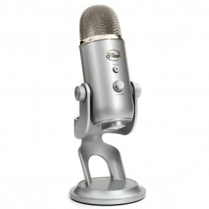 Blue Yeti Silver Ultimate USB Microphone for Professional Recording