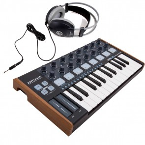 Arturia MiniLab Black Edition Midi Keyboard + AKG K77 Headphones **Bundle**