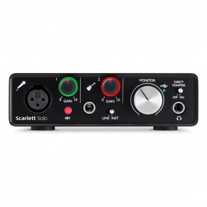 Focusrite Scarlett Solo 2-in/2-out USB Audio Interface (2nd Gen)
