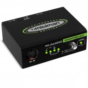 M-Audio Midisport 2x2 Anniversary Ed. 2-in/2-out USB MIDI Interface