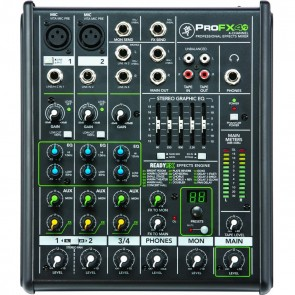 Mackie ProFX4v2 4-Channel Professional Mixer with Built-In FX
