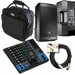 Yamaha MG10XU Mixer with JBL EON610 Speakers + MORE ** PORTABLE LIVE BUNDLE**