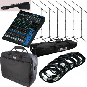 Yamaha MG12XU + Road Bag + 6 FREE Mic Stands + 6 FREE 20' Mic Cables - - BUNDLE