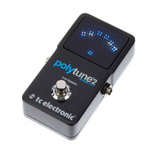 TC Electronic Polytune 2 BlackLight Polyphonic LED Guitar Tuner Pedal