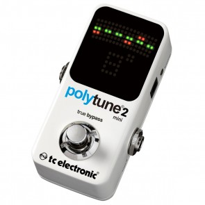 TC Electronic Polytune 2 Mini Polyphonic Guitar Tuner Pedal