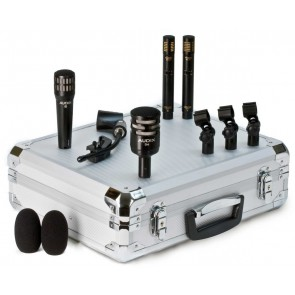Audix DP-QUAD 4-Piece Drum Microphone Pack with clips and case