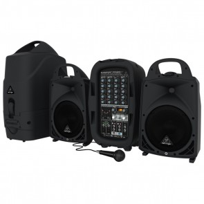 Behringer Europort PPA500BT 500-Watt 6-Channel Portable PA System