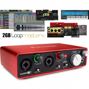 Focusrite Scarlett 2i2 (2nd Gen) 2-in/2-out USB Audio Interface with and Pro Tools First