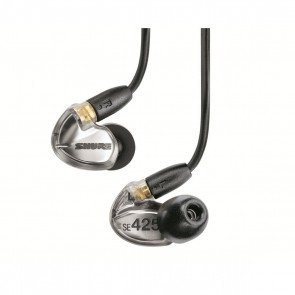 [Open-box] Shure SE425 Silver Dual-driver earphones with Sound-isolating Sleeves